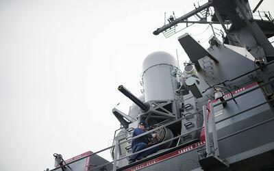 Barco destructor de la Marina de Estados Unidos