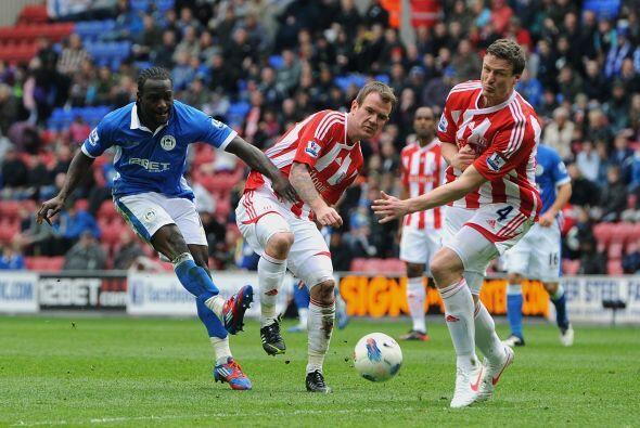 Wigan venció al Stoke City 2 a 0.