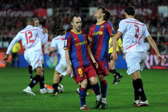 Con el paso de los minutos, el Barça se veía desesperado p...