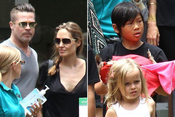 Brad Pitt y Angelina Jolie decidieron consentir a sus pequeños una vez m...