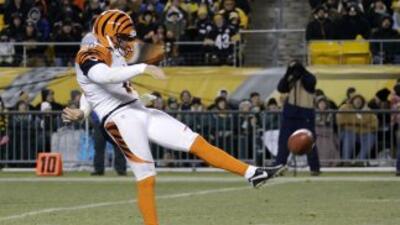 Kevin Huber estará fuera por el resto de la temporada (AP-NFL).