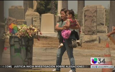 Sin previo aviso removieron lápidas del cementerio Angelus Rosedale