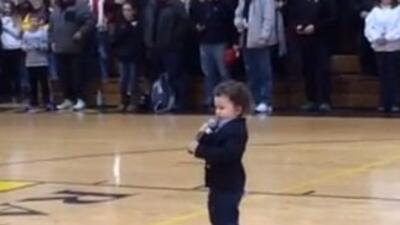 2 Year Old Sings Anthem
