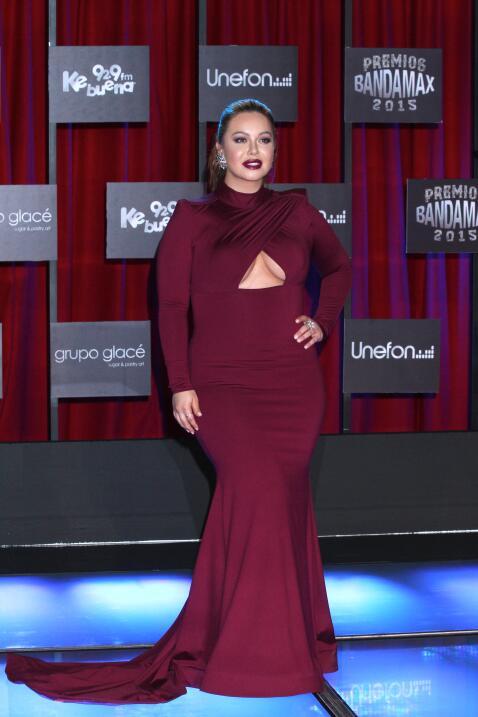 Con este ajustado vestido Chiquis cautivó a todos.