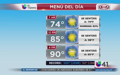 Nueva York tendrá un viernes cálido