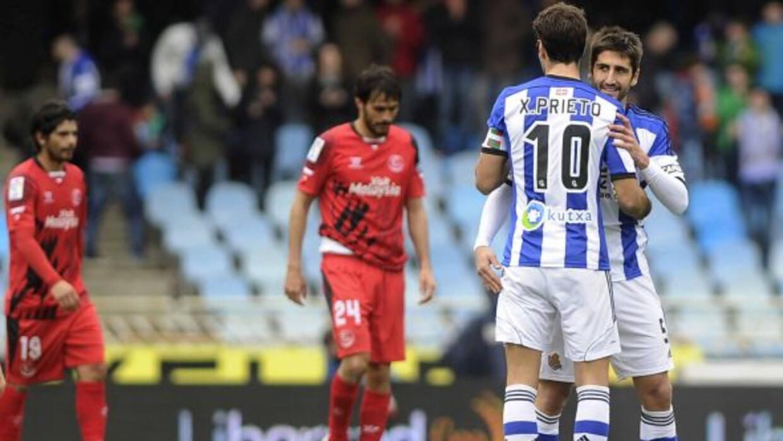 Xabi Prieto firmó el gol del triunfo definitivo de los vascos en un part...
