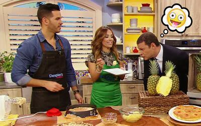 Esta receta de pastel de piña 'al revés' resultó irresistible para Alan...