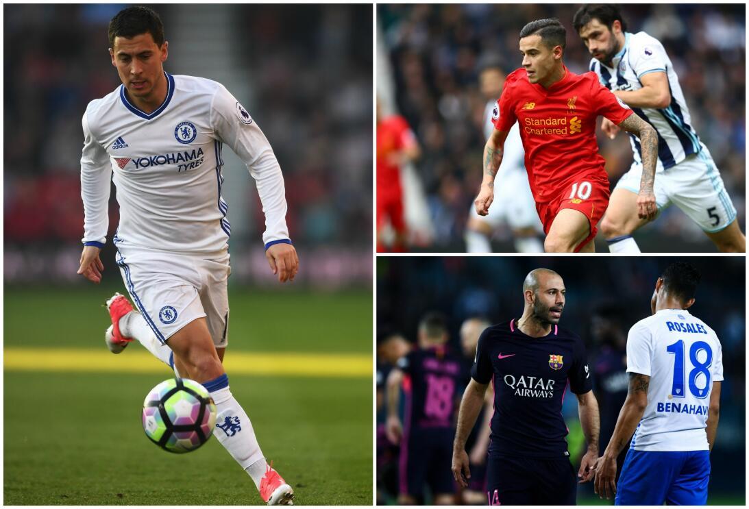 Eden Hazarrd, Philippe Coutinho y Javier Mascherano son algunos de los n...
