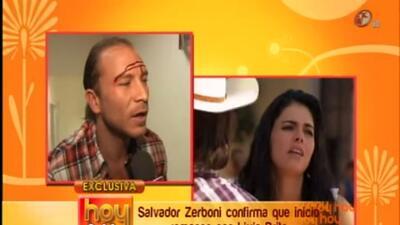 Salvador Zerboni confirma su noviazgo con Livia Brito