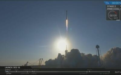 En video: Regresa a Tierra el Falcon 9 de SpaceX, el primer cohete reuti...