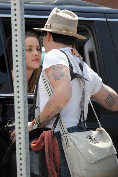 Amber Heard y Johnny Depp se encuentran en Nueva York. Encontramos a la...