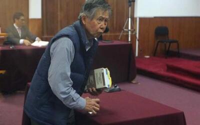 El expresidente peruano Alberto Fujimori, en una audiencia judicial.