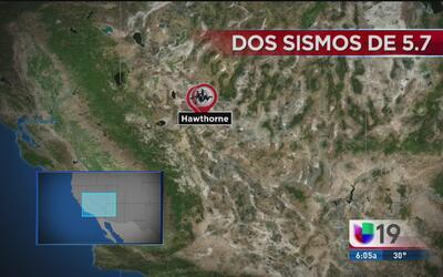 Dos sismos sacuden California y Nevada