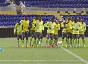 Curioso baile de la selección de Senegal durante su entrenamiento