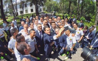 América visitó la Residencia Oficial de Los Pinos.