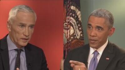 Obama es entrevistado por Jorge Ramos