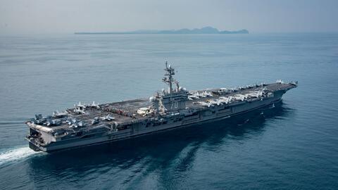 El portaaviones norteamericano USS Carl Vinson y su flota llegarán al ma...
