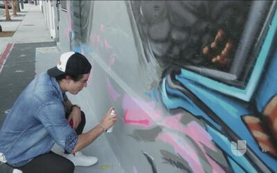 Danilo Carrera se fue a dibujar grafitis por las calles de Miami