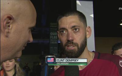 """Clint Dempsey """"Esperábamos una victoria pero no con tantos goles"""""""