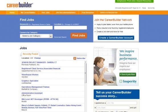 CareerBuilder: Cuenta con versiones en casi todos los países importantes...