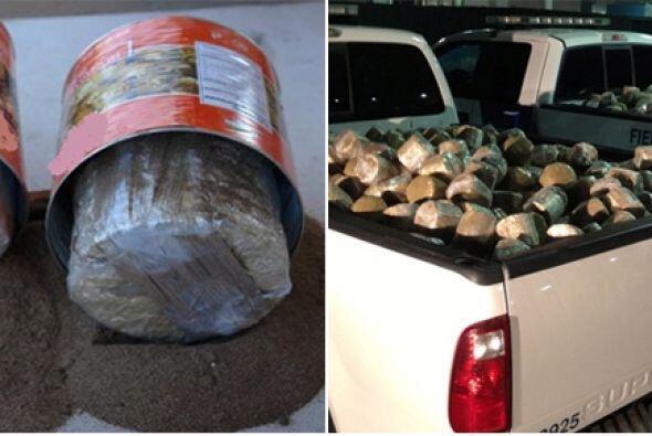 Un total de 1,842 paquetes de marihuana escondidos en latas de jalapeños...