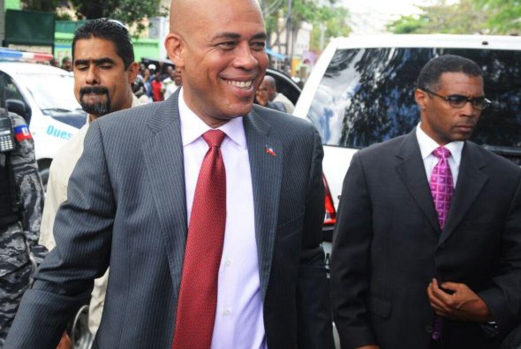 Martelly obtuvo el 67.57 por ciento de los votos ganándole a su rival, M...