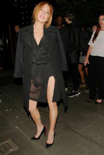 Lindsay Lohan escogió la tela traslúcida para demostrarnos...