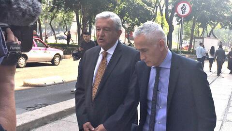 Andrés Manuel López Obrador and Jorge Ramos go walkabout o...