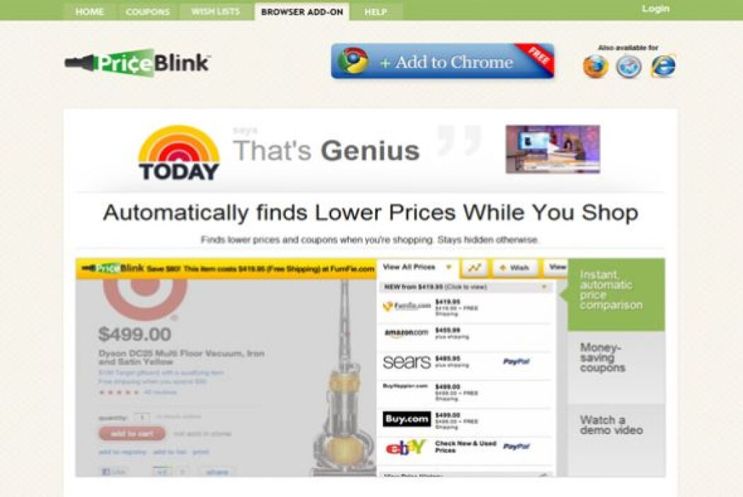 PriceBlink (priceblink.com)  Calificación de CR: Muy bueno para checar l...