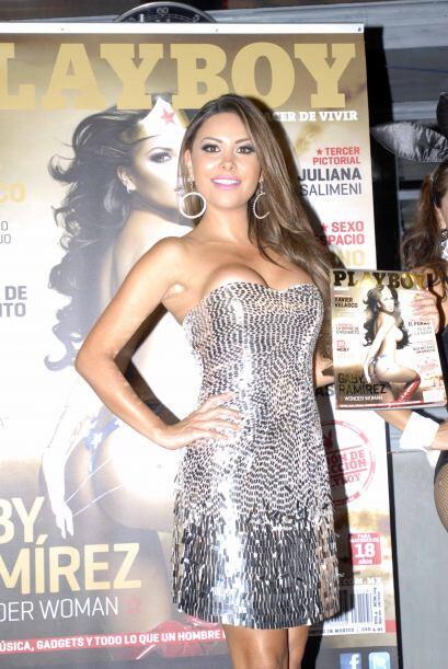 """Gaby Ramírez se convirtió en la mujer maravilla en """"Playboy""""."""