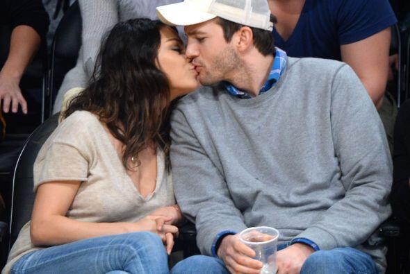 La parejita se comprometió cuando la actriz estaba embarazada.