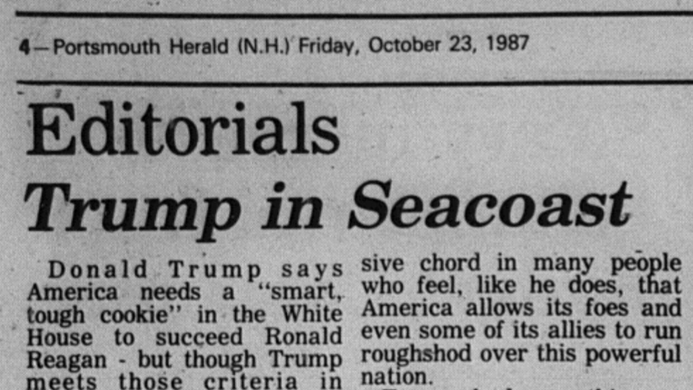 El editorial del diario local de Portsmouth en octubre de 1987.