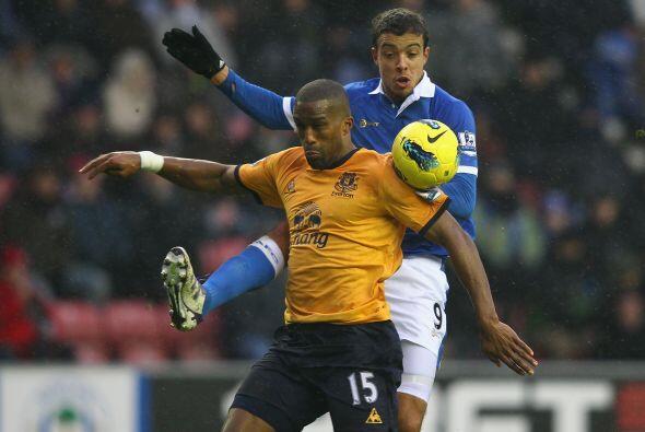 Wigan y Everton empataron 1 a 1.