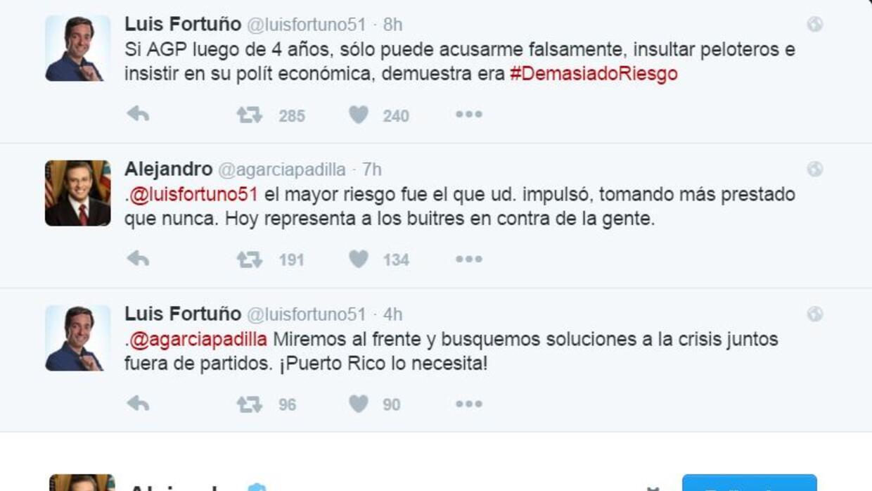 Tiraera entre Fortuño y García Padilla en Twitter