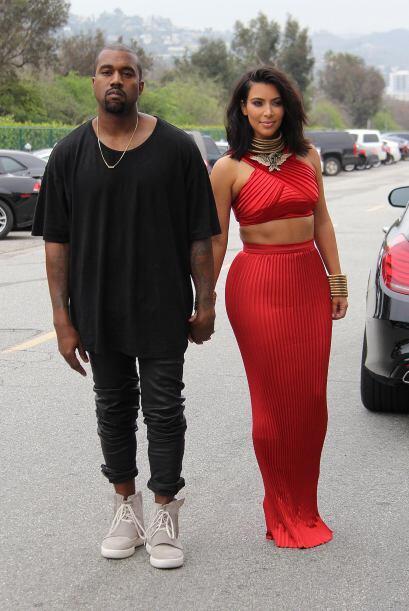 Kim estrenó look.