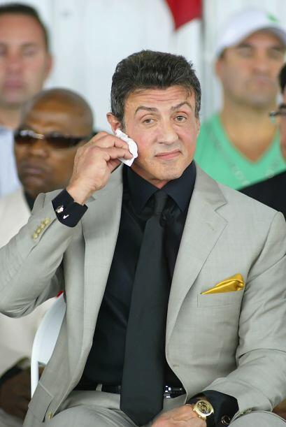 A pesar de su experiencia para enfrentar multitudes, Silvester Stallone...