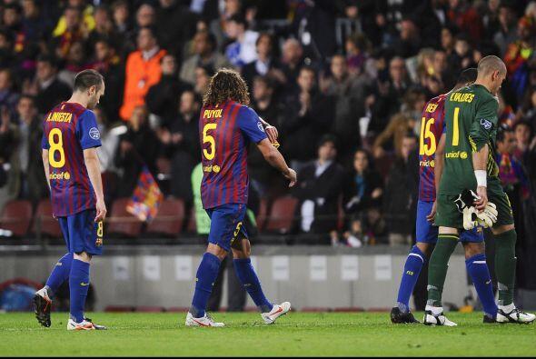 Dura derrota para los jugadores del Barcelona.