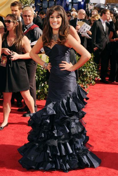 Lea Michele fue todo un torbellino de mal gusto con ese vestido y la pos...