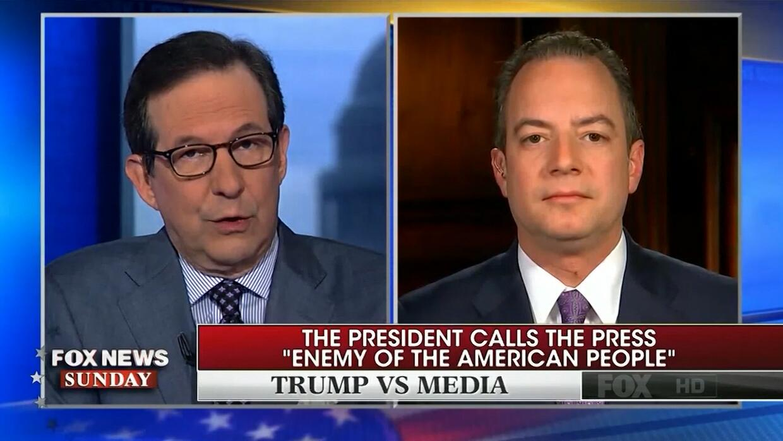 Un periodista de Fox se enfrenta a Priebus después de que Trump llamara...