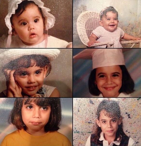 Aquí la evolución de Nicole a través de los años.