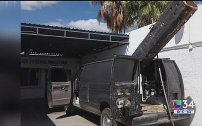 Decomisan cañón para lanzar droga desde México a Estados Unidos