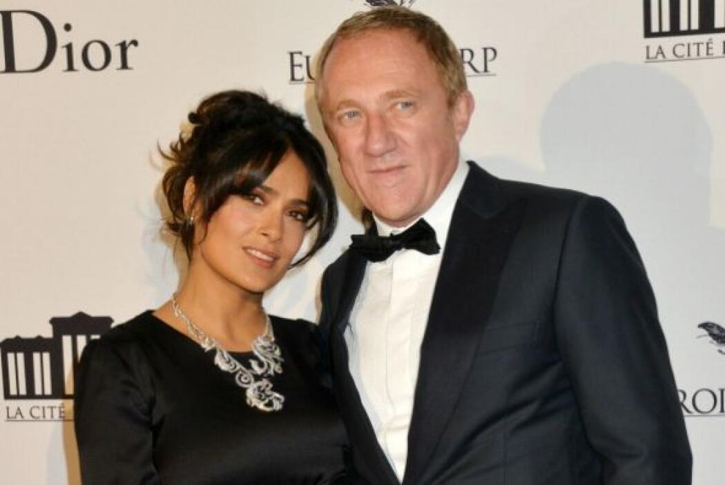 La mexicana Salma Hayek y su esposo, el empresario francés François-Henr...