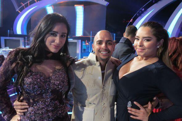 En los ensayos de la cuarta gala, Yazaira, José y Vivian.
