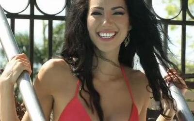 Setareh Khatibi, finalista de Nuestra Belleza Latina 2012 en bikini