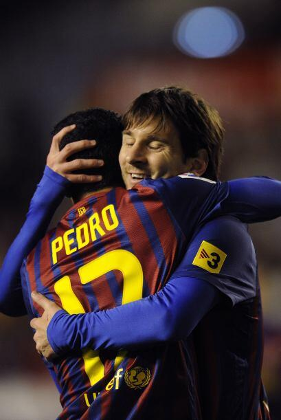 Pedro y Messi hicieron otro gol cada uno de ellos para sus dobletes.