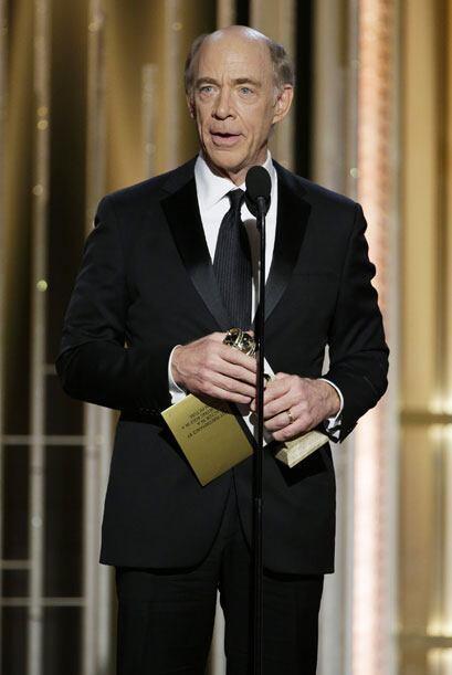 J.K. Simmons, mejor actor de reparto en cine, por 'Whiplash'.