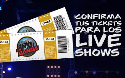 Tickets para los shows en vivo de La Banda