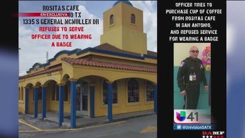 Una fotografía genera disputa entre un restaurante y un policía