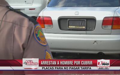 Arrestan a hombre que se las 'ingenia' para no pagar autopista