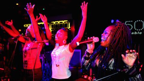 DUBLIN, IRELAND - SEPTEMBER 24: Karen Wheeler of Soul II Soul performs o...